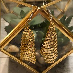 Sequin mesh retro earrings GOLD